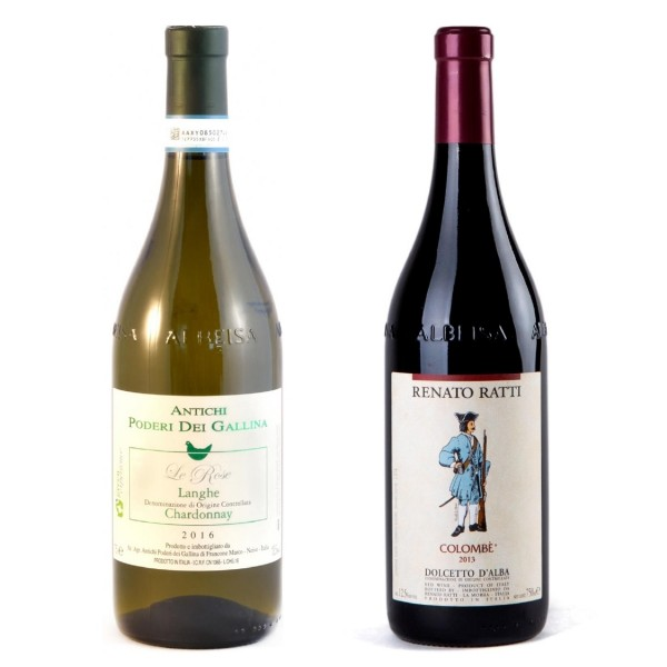 Langhe Chardonnay DOC + Dolcetto d'Alba DOC